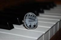 Sheet Music Adjustable Ring