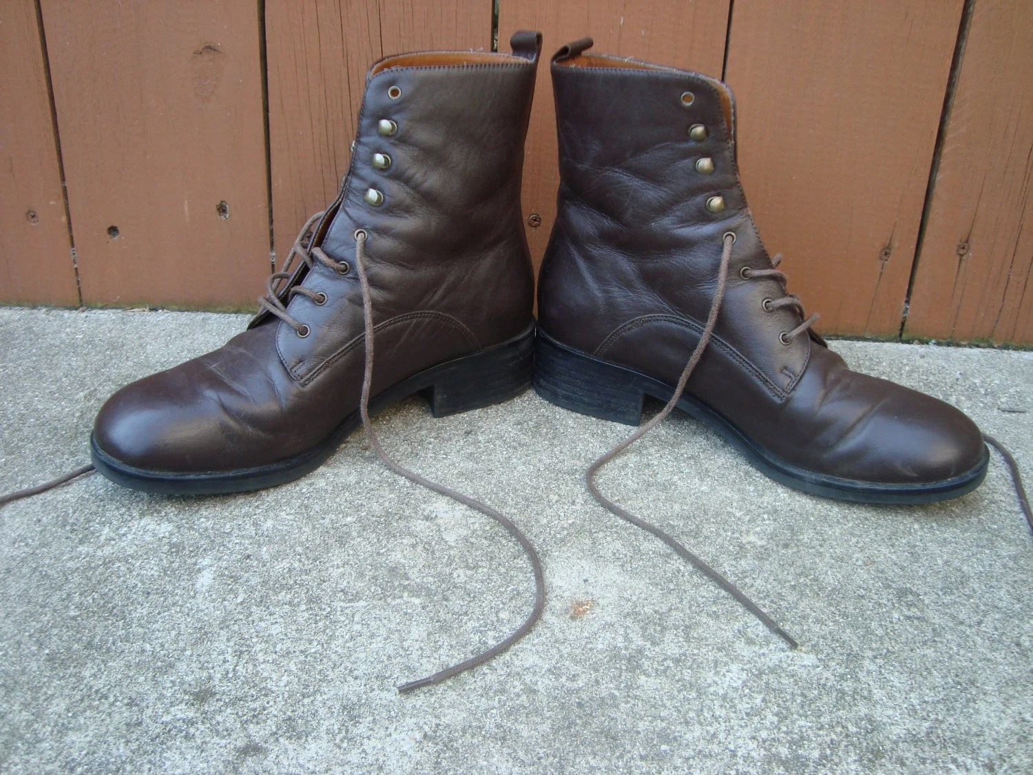 VINTAGE Leather Boots Size 8.5