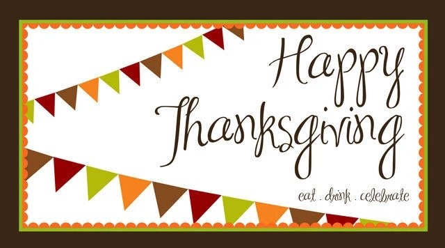 Personalized Thanksgiving Placemat (Autumn Banner)