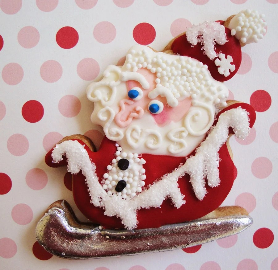 Christmas Cookies Old Fashioned Santa Claus Cookies on Sleigh