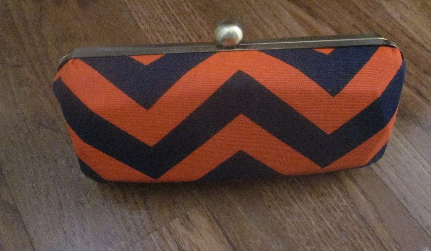 Chevron stripe clutch purse/minaudiere