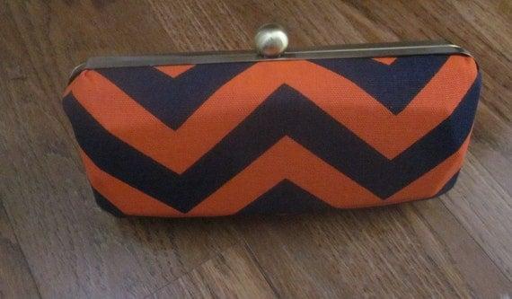 Chevron stripe clutch purse/minaudiere