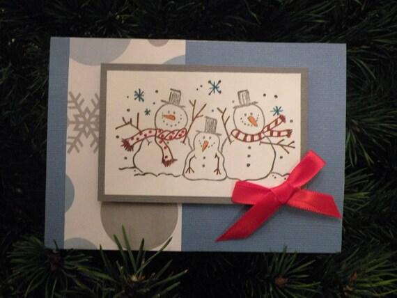 Handmade Snowman Card Set