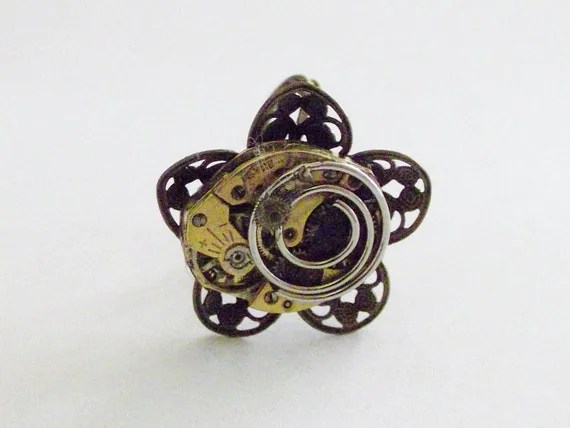 Steam Punk Ring that is Fun and Sassy to Wear that is a One Of A Kind (OOAK)