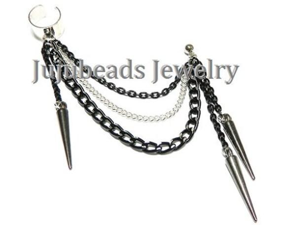 angel spike chain pierced