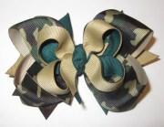 camo boutique hair bow camoflage
