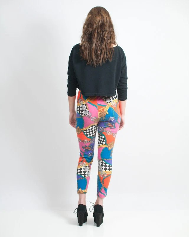 Vintage 90's Women's Funky High Waisted Leggings