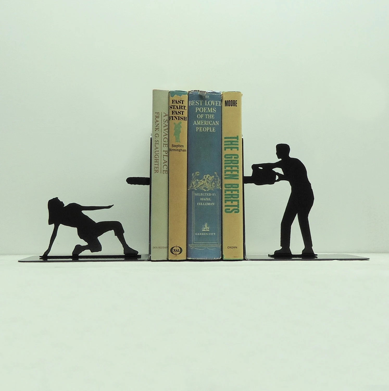 Chainsaw Attack Bookends - Free USA Shipping