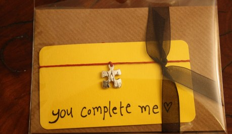 You Complete Me...wish string bracelet