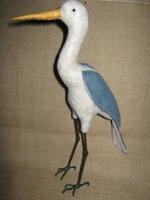 "Tri - Color Heron - 15"" Tall"