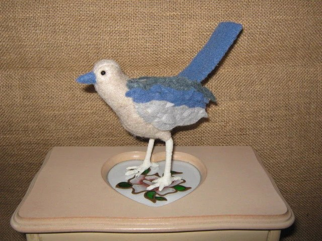 Little Blue Bird - in felt