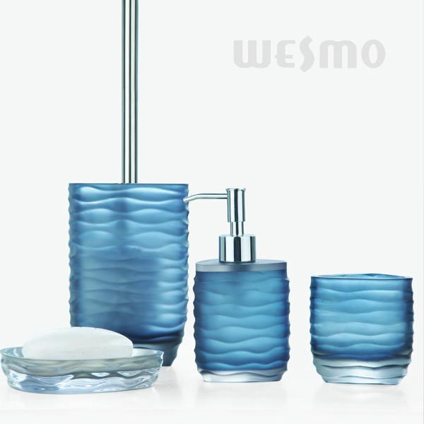 bathroom accessories sets blue - interior design