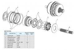 Concrete Mixer Car Kawasaki Hydraulic Motor Repair Parts