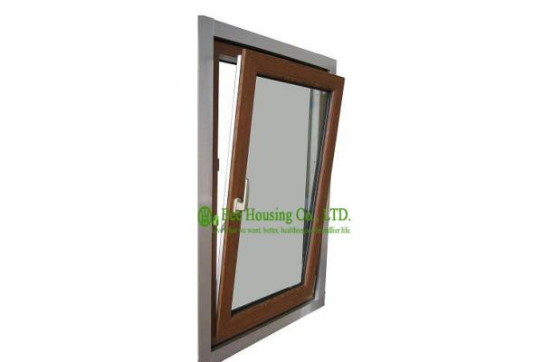wood color top hung upvc windows for house, vinyl