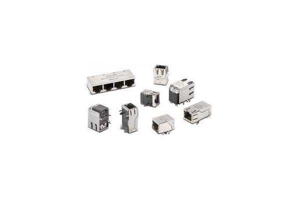 CAT6 rj45 20 pin connector / jack single port ethernet