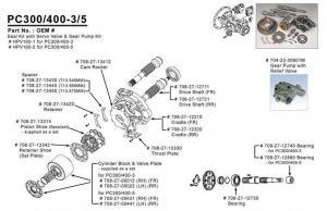 Excavator Pc400-5 / Pc400-3 Komatsu Hydraulic Pump Parts