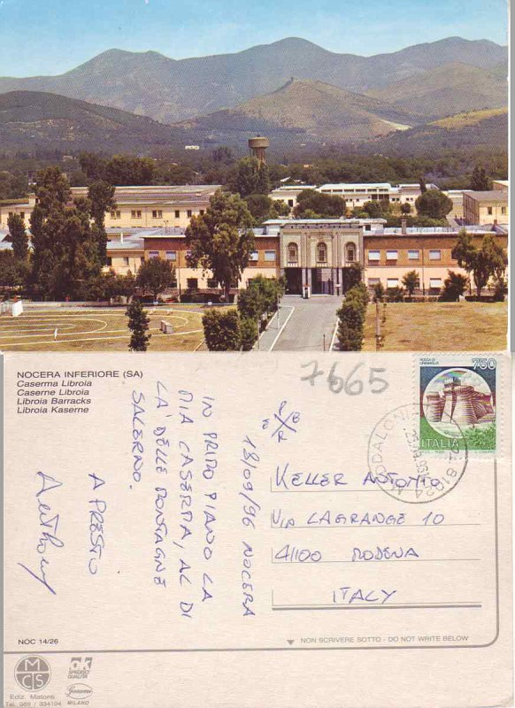 7665 NOCERA INFERIORE SALERNO CASERMA FG  oggi  alicecasavivaldi