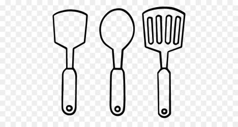 cocina colorear dibujos utensilios spatula drawing sobre kitchen coloring utensilio negro utensil mensajes relacionados