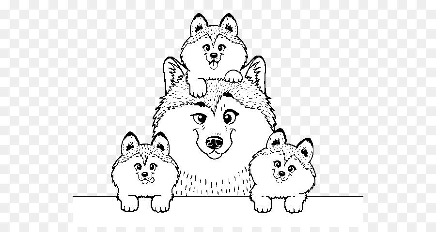 Husky Siberiano Cachorro Páginas Para Colorear imagen