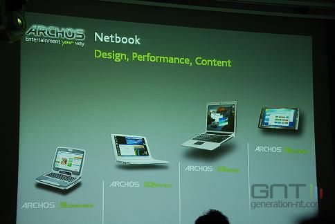 Les Netbooks Archos. Photo @Generation NT