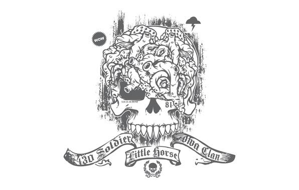 Wallpaper skull, white background, brains images for