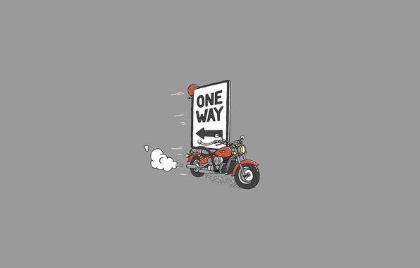 Wallpaper smoke, Moto, minimalism, motorcycle, bike, one