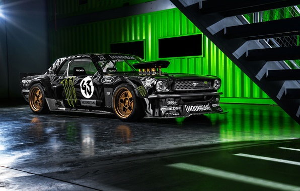 Lifted Truck Iphone Wallpaper Обои Mustang Ford Monster Front 1965 Rtr Block Ken