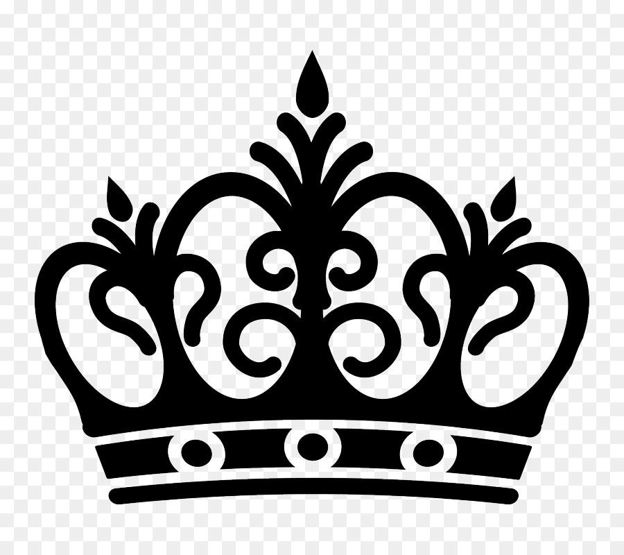 Coroa, Preto E Branco, Desenho png transparente grátis