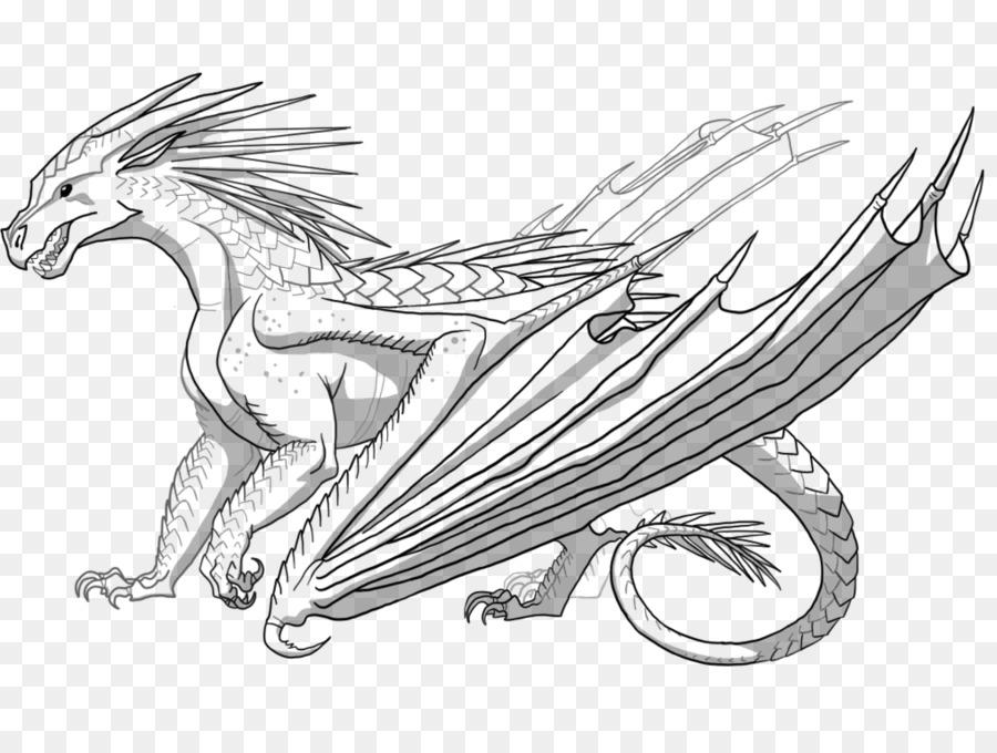 Livro De Colorir, Dragão, Asas De Fogo