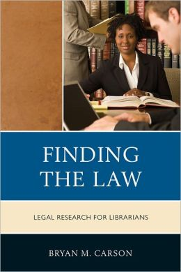 book cover for Finding the Law