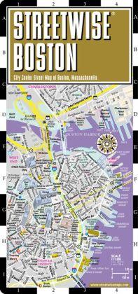 Streetwise Boston Map Laminated City Center Street Map