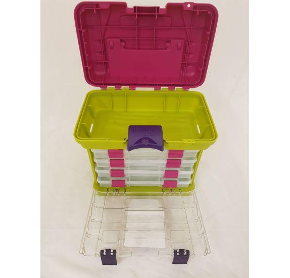 boite de rangement en plastique avec compartiments creative options