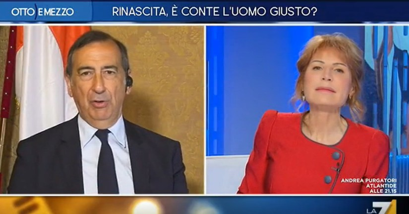 Ah. Look at the face of Gruber: the shot of the Room in live, it's all the fault of Salvini and Melons. Too much even for Lilli?