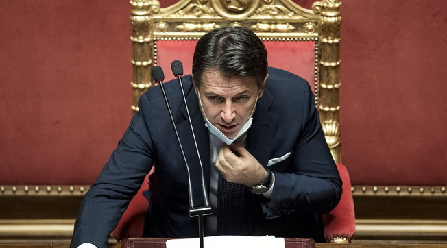 Dragons?  No, in its place a cog ***.  Mes, from the big of Forza Italia a tragic truth about Giuseppe Conte: big words fly