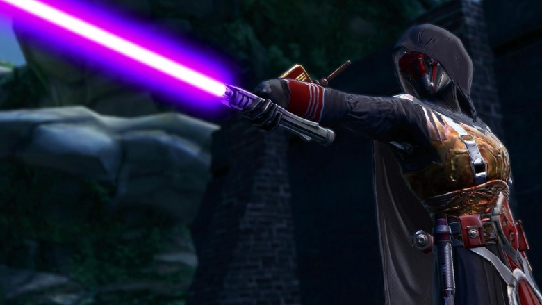 What the purple lightsaber means