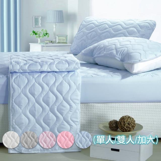【eyah】純色平單式保潔墊(單人/雙人/加大)