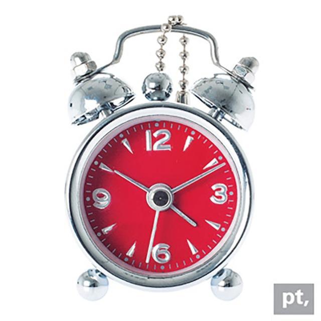 【歐洲名牌時鐘】Present Time-隨身小鬧鐘/紅《歐型精品館》(簡約時尚造型/掛鐘/壁鐘/鬧鐘/輕巧可愛)