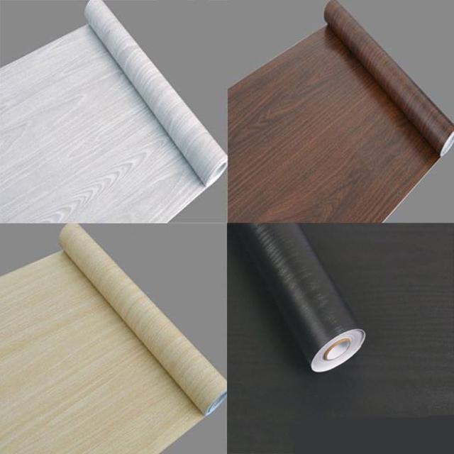 仿木紋PVC自黏式 壁貼 壁紙 地板/家具/櫥櫃/ 地板貼紙 防水材質(1捲45x1000公分)