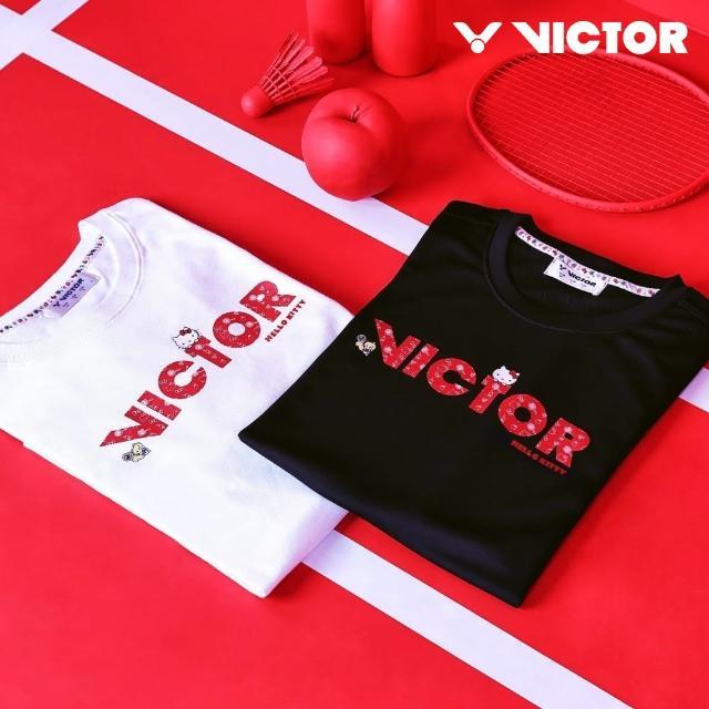 【VICTOR 勝利體育】VICTOR x HELLO KITTY 聯名T恤(T-KTA 白)