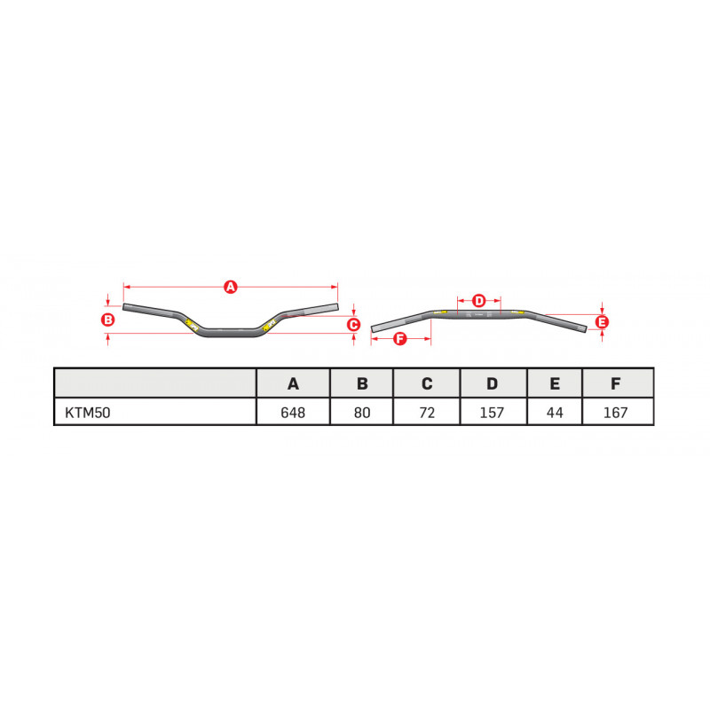 Guidon mini-cross avec barre ProTaper Seven Eighths KTM SX