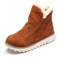 Designer Big Size Pure Color Warm Fur Lining Winter Ankle ...