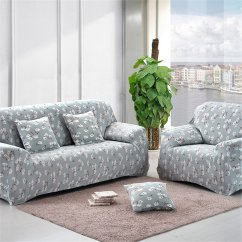 Flower Sofa Covers Leather Repair North West London 4 Size Stretch Print Cover Lounge Couch Easy