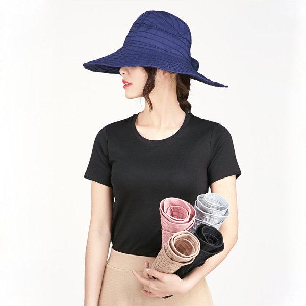 Women Summer Foldable Anti-UV Protective Beach Sun Hat Outdoor Driving Wide Brim Visor Cap