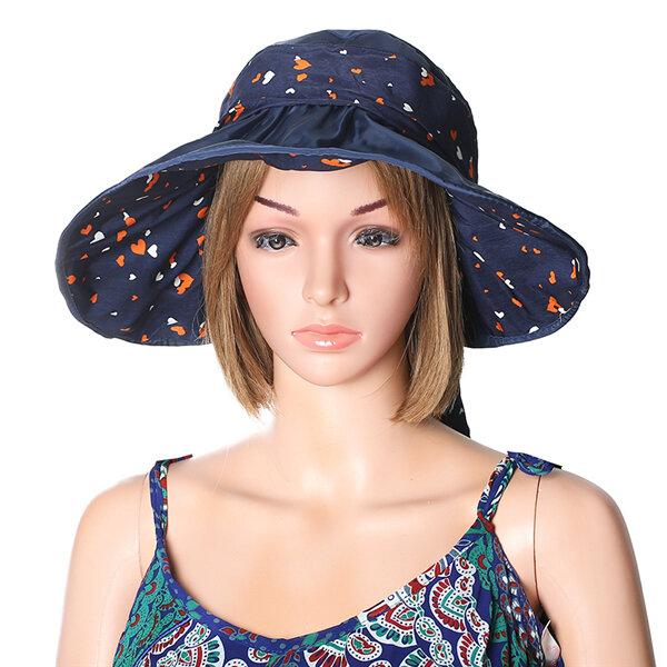Women Summer Outdoor Beach Sun Protective Gardening Hat Driving Anti-UV Wide Brim Visor Cap