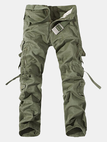 Mens Multi-pockets Cargo Pants