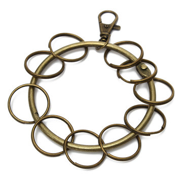 Bronze Lobster Clasp Big Circle Hook Keychain
