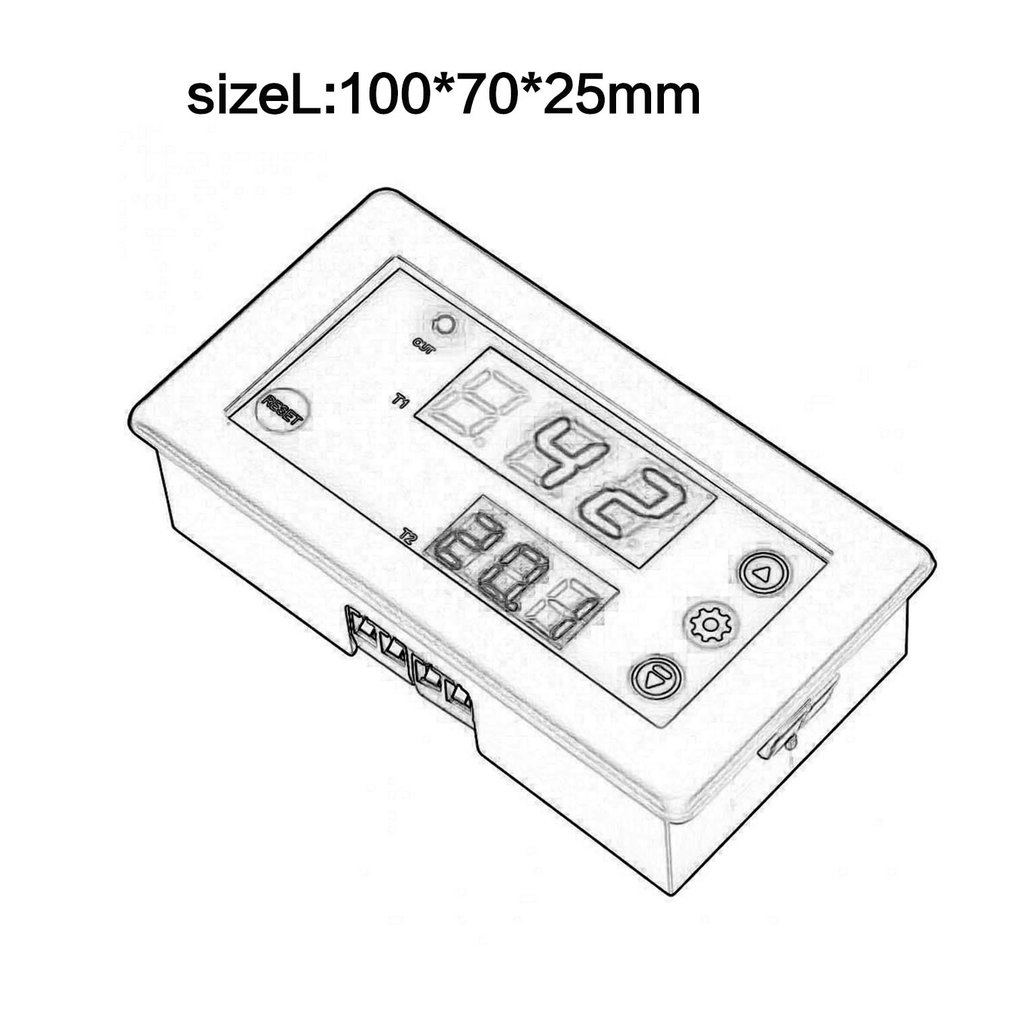 VBESTLIFE DC 12V Timing Delay Relay Module Cycle Timer