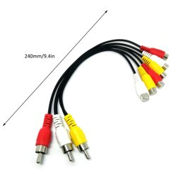 industrial standard rca video r audio l yellow red white connectors used to connect rca audio video devices such as tv dvd etc  [ 1010 x 1010 Pixel ]