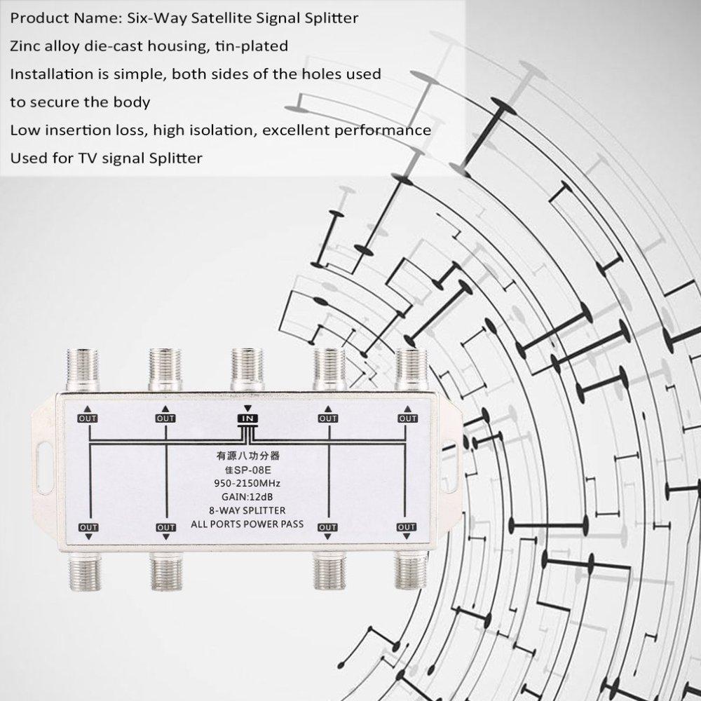 medium resolution of 8 way port tv signal satellite sat coaxial diplexer combiner splitter combiner kz