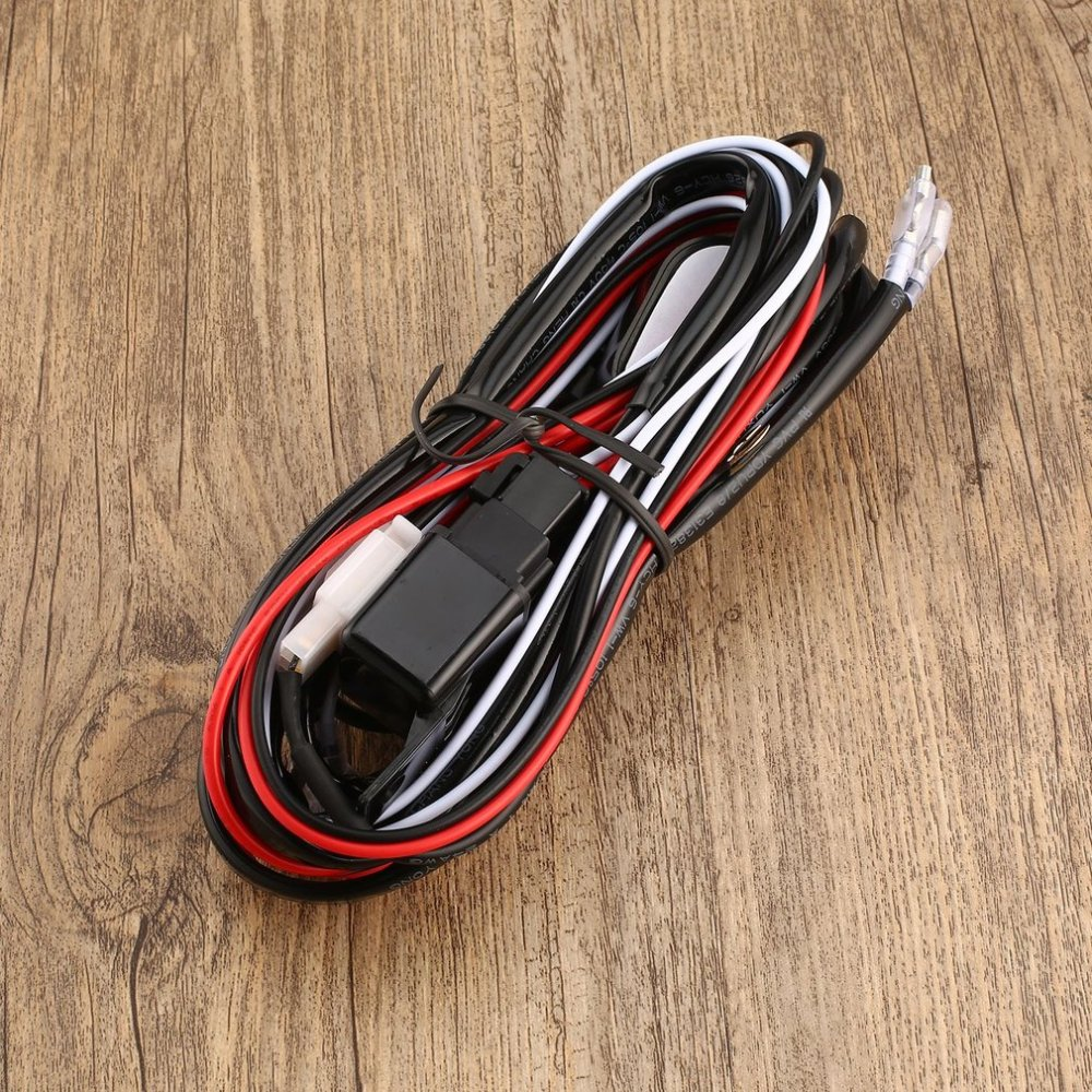 medium resolution of toyota heavy duty led light bar wiring loom harness 40a switch relay kit 12v pp